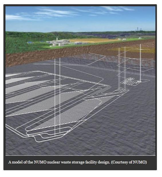 ЦХЗГ-аас боловсруулсан цөмийн хаягдал булшлах агуулахын загвар